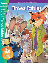 Disney Learning Zootropolis Times Tables, Ages 6-7, Paperback Book, By: Scholastic