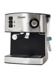 Dessini Super Automatic Powder Espresso Machine, DEM444, Black/Silver