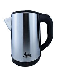 Alizz 2.3L Electric Stainless Steel Cordless Kettle, 2000W, AL-0909, Silver/Black