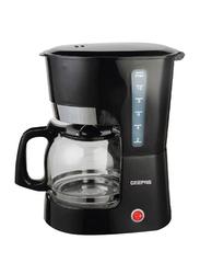 Geepas 1.5L Coffee Maker with Anti-Drip Function, 1000W, GCM6103, Black