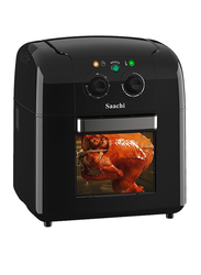 Saachi 9.5L Air Fryer Oven with Rotisserie Function, 1400-1650W, NL-AFO-4773-BK, Black
