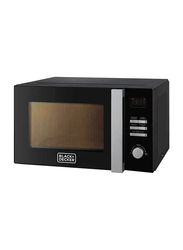 Black+Decker 28L Microwave Oven, 700W, with Grill, MZ2800PG-B5, Black