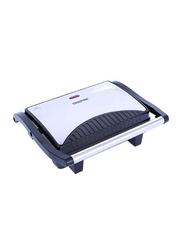 Geepas Grill Maker, 1000W, GGM5394, Silver/Black