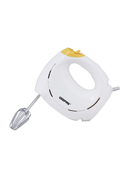 Geepas Electric Hand Mixer, 1500W, GHM43012, White/Yellow