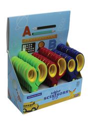 Sadaf PD-107 SDF-2054 School Scissors Set, 24-Pieces with Display Box, Multicolour