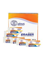 Sadaf 20-Piece Eraser Set, White