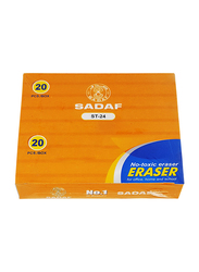 Sadaf 20-Piece Big Box Eraser Set, ST-24, White