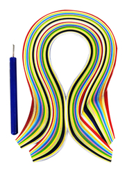 Sadaf Quilling Art Paper With Pen Set, 7 x 420mm, 100-Piece, PD-99, Multicolour