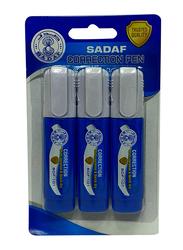 Sadaf 3-Piece PD-86 Correction Pen, 10ml, White