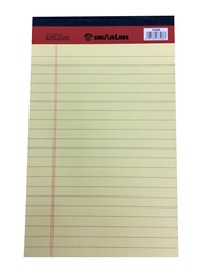 Sinarline Legal Ruled Notepad, 40 Sheets, 56 GSM, 12.7 x 20.3cm, Yellow