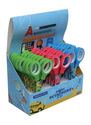 Sadaf PD-107 SDF-2047 School Scissors Set, 24-Pieces with Display Box, Multicolour