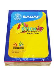 Sadaf PD-103 StickIt Magic Cube, 75 x 100mm, 25 Sheet in 9 Colour, Multicolour