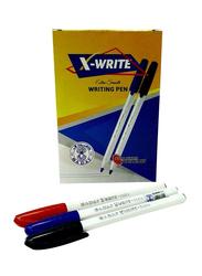 Sadaf 50-Piece X-Write Ball Pen Set, 1mm, Assorted Colour