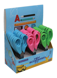 Sadaf PD-107 SD-2061 School Scissors Set, 24-Pieces with Display Box, Multicolour