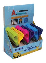 Sadaf PD-107 SDF-2023 School Scissors Set, 24-Pieces with Display Box, Multicolour