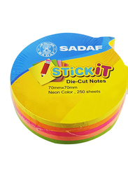 Sadaf PD-103 StickIt Balloon Shape Sticky Notes, 70 x 70mm, 250 Sheet, Neon Colour