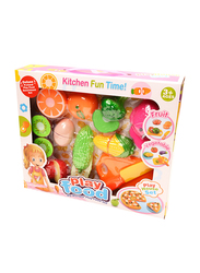 Play Food Vegetables Fruit Kitchen Learning Toy Set, 16 Pieces, Ages 3+