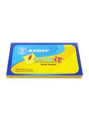 Sadaf StickIt Sticky Notes, 75 x 125mm, 100 Sheet, Pastel Yellow