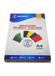 Sadaf Binding Sheet, 230GSM, 100 Sheets, A4 Size, Green