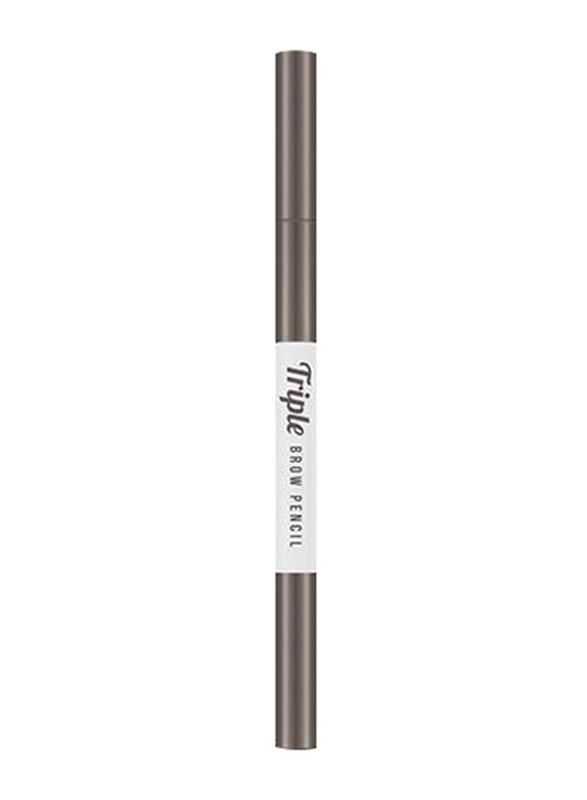 Missha Triple Brow Pencil, 0.22gm, Natural Brown