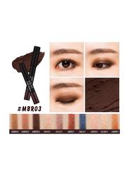 Missha Eye Fit Stick Shadow, 1.1gm, MBR03 French Rostingm, Brown