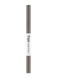 Missha Triple Brow Pencil, 0.22gm, Gray Brown