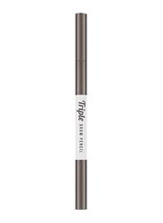 Missha Triple Brow Pencil, 0.22gm, Choco Brown