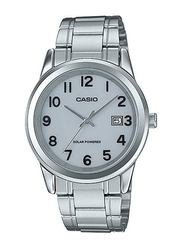 Casio Analog Watch for Men with Stainless Steel Band, Water Resistant, MTP-VS01D-7B2, Silver-Grey