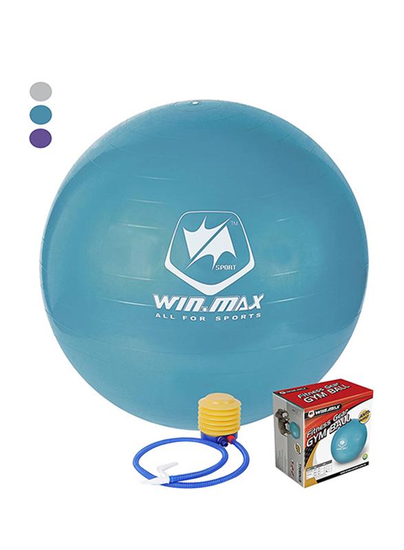 Winmax Gym Exercise Ball, WMF09648D, 75cm, Blue