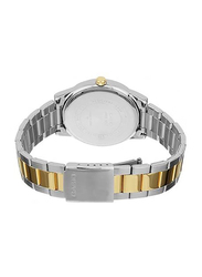 Casio Analog Watch for Women with Stainless Steel Band, Water Resistance, LTP-1303SG-7AV, Silver/Gold-White