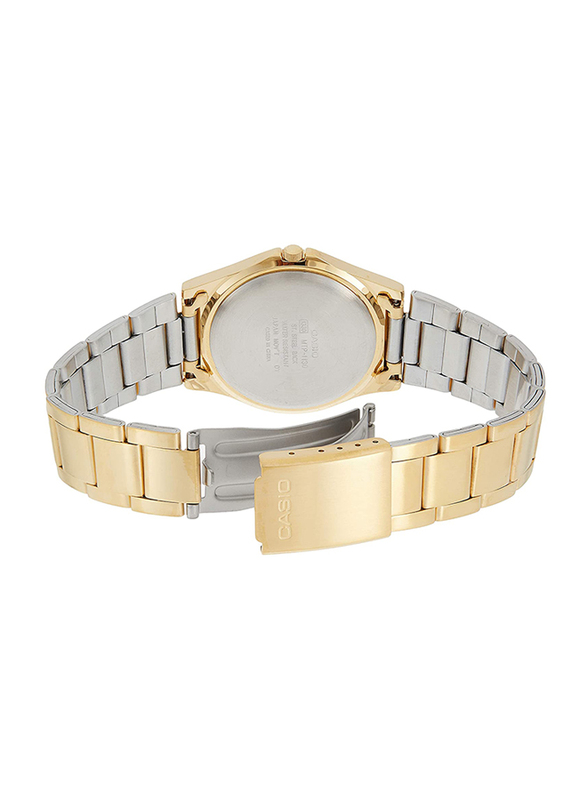 Casio Analog Quartz Watch for Women with Stainless Steel Band, Water Resistance, MTP-1130N-9BRDF, Gold-Gold