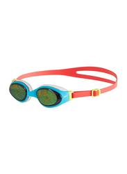 Speedo Holowonder Junior Swimming Goggles Unisex Adult, 8-10488b787, Orange/Blue