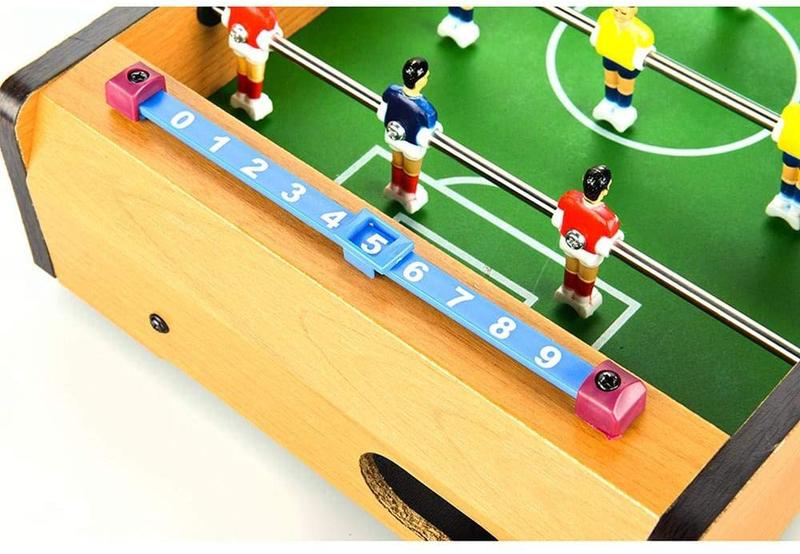Mini Foosball Table Top Soccer Game, Multicolour