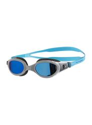 Speedo Futura Biofuse Flexiseal Mirror Swimming Goggles Unisex, 8-11316c110, Charcoal/Grey/Blue Mirror
