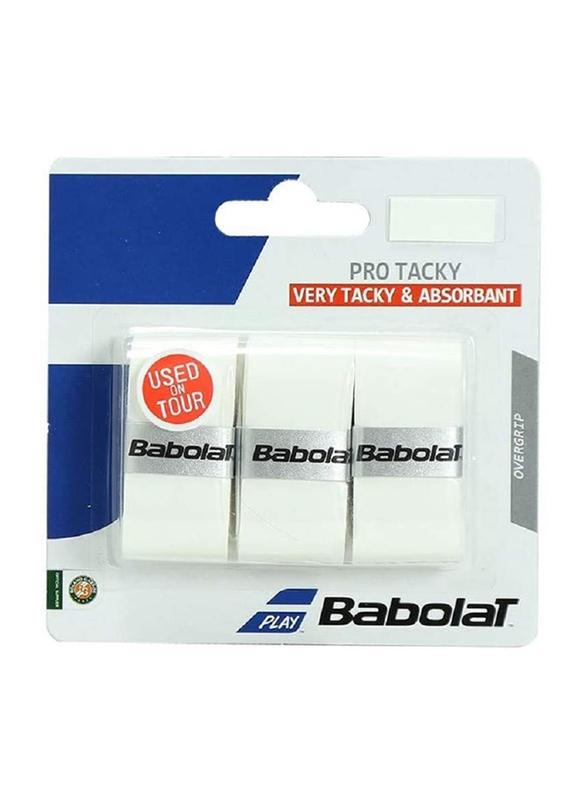 Babolat Pro Tacky U-sex Tennis Grip, 3 Pieces, White