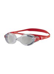 Speedo Futura Biofuse Flexiseal Swimming Goggle Unisex, Red/Clear
