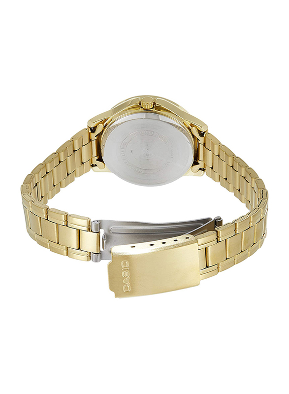Casio Analog Watch for Women with Stainless Steel Band, Water Resistance, LTP-V004G-7BUDF, Gold-Silver
