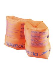 Speedo Roll Up Armbands, 2-12 Years, Orange