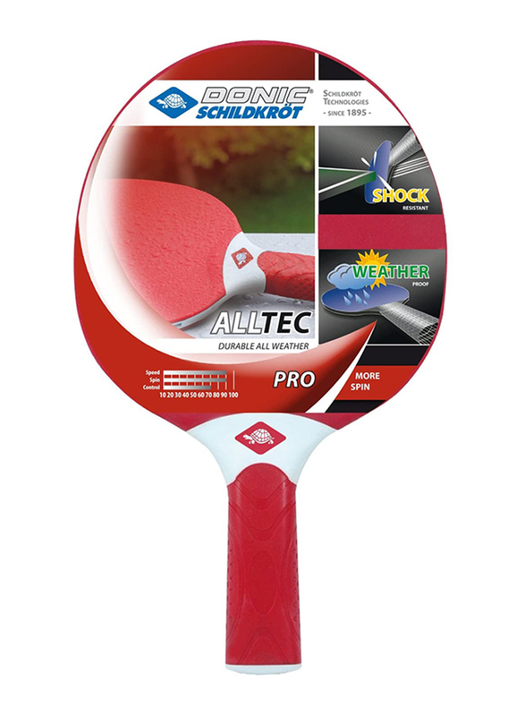 Donic Alltec Hobby Pro Table Tennis, Red