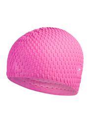 Speedo Bubble Swimming Cap, Galinda/Ultra Violet Pink