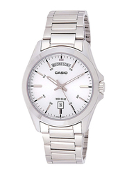 Casio Analog Quartz Watch for Men with Stainless Steel Band, Water Resistant, MTP-1370D-7A2VDF, Silver