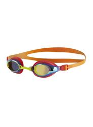 Speedo Mariner Supreme Junior Mirror Swimming Goggles Unisex, 8-11320b989, Jaffa/Watermelon/Gold