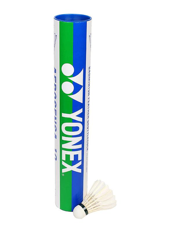 Yonex Aerosensa Shuttlecock, Medium, 12 Pieces, White