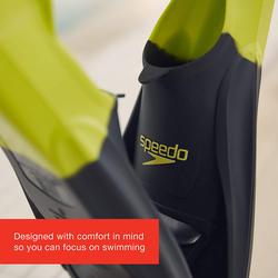 Speedo Unisex Adult Training Fin, Size 2-3, Grey/Green