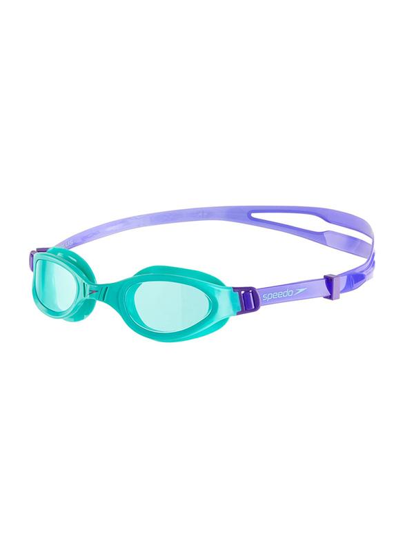 Speedo Futura Plus Junior Swimming Goggles Child Unisex, Green/Blue