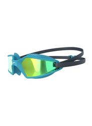 Speedo Hydropulse Mirror Junior Swimming Goggle, Navy/Blue Bay/Gold Yellow