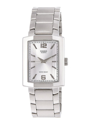 Casio Analog Watch for Men with Stainless Steel Band, Water Resistance, MTP-1233D-7ADF, Silver-Silver