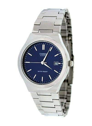 Casio Analog Watch for Men with Stainless Steel Band, Water Resistance, MTP-1170A-2ARDF, Silver-Blue