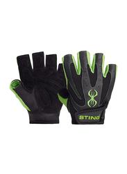 Sting Atomic Weight Lifting Gloves, Medium, Green/Black