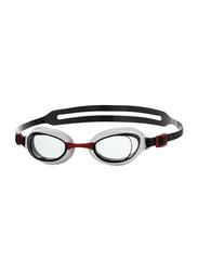 Speedo Aquapur Swimming Goggles, Free Size, White/Black